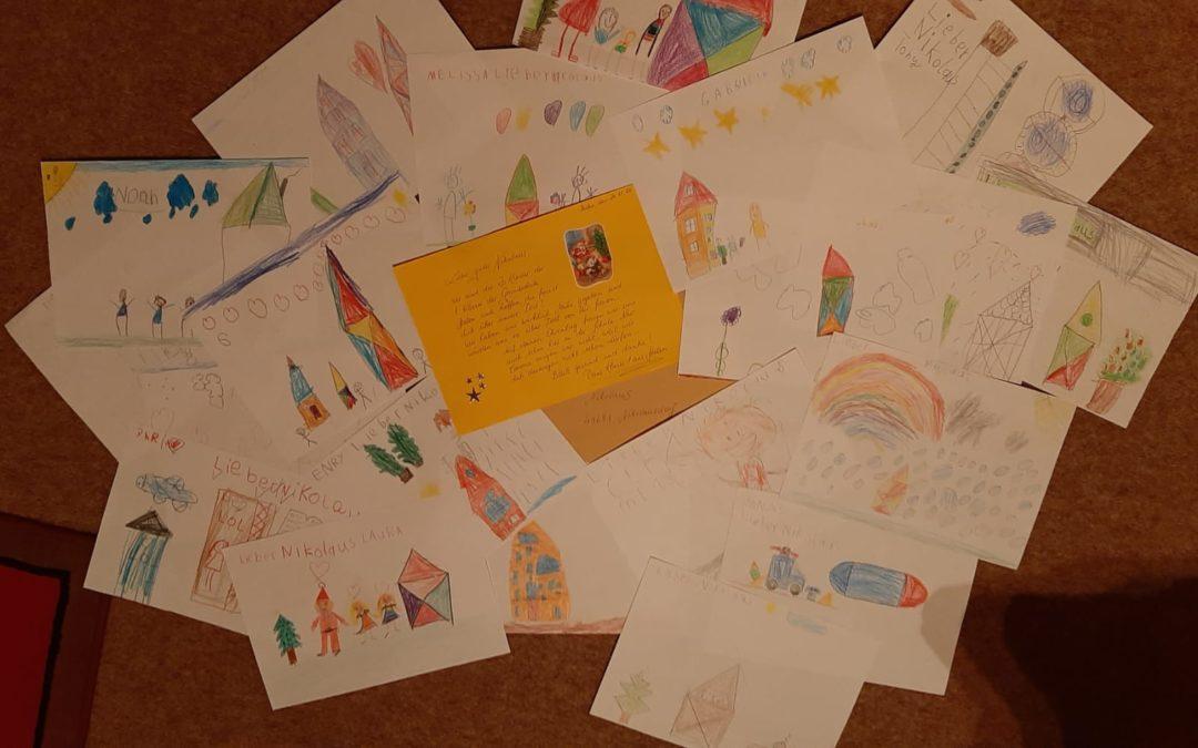 Klasse 1 schreibt dem Nikolaus